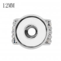 White drill fittings for silver-plated belt of ultrasonic stethoscope Pendant fit 12MM snaps style jewelry KS0371-S