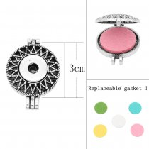 30MM alloy Aromatherapy/Essential Oil Diffuser Perfume snap jewelry fit 20MM chunks Pendant with 1pc 20mm discs as gift