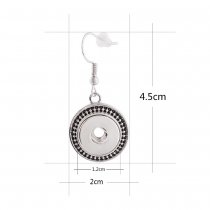 Snaps metal earring KS1117-S fit 12mm chunks snaps jewelry