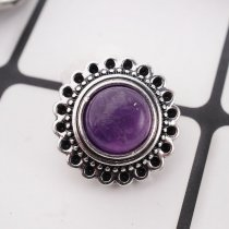 20MM round snap silver plated with purple Turquoise  KC8910 interchangable snaps jewelry