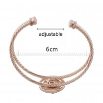 1 buttons snap rose gold bracelet with rhinestone fit 12MM snaps jewelry KS1197-S