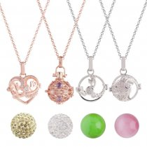 Mezcle 100pcs / set Angel Caller Ring bell ball locket Collar con color aleatorio de bola, más aleatorio que los tipos 30