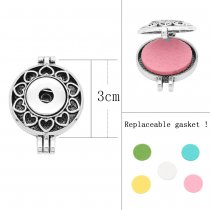 30MM alloy Aromatherapy/Essential Oil Diffuser Perfume snap jewelryfit 20MM chunks Pendant with 1pc 20mm discs as gift