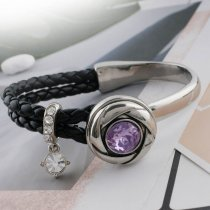 20MM snap Jun. Birthstone violet clair KC5680 snaps interchangeables bijoux