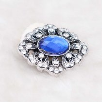 20MM design snap silver Plated with blue rhinestone KC6931 snaps jewelry