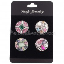 10pcs/set  snap buttons PVC suede Cards Fit 4pcs 20mm snaps 6*9CM