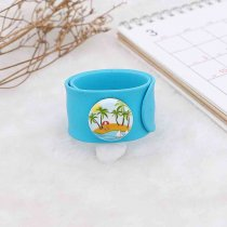20MM Painted Sandy beach enamel metal C5696 print snaps jewelry