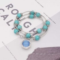 20MM design snap Plated with rhinestone the Blue Cat's eye KC7885 snaps jewelry