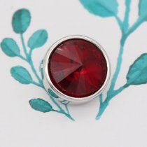 12MM snap Jan. birthstone deep red KS7031-S interchangable snaps jewelry