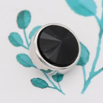 12MM snap With Black strass KS7044-S bijoux interchangeables