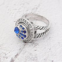 12MM design metal peacock snap with blue rhinestone KS7059-S snaps jewelry