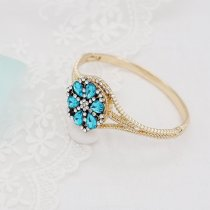 20MM  snap Golden Plated with blue  rhinestone KC9115  snaps jewelry