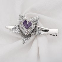 Love 20MM  snap Silver Plated with Purple enamel  KC9138 snaps jewelry