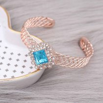 20MM design snap rose-gold plated with Light blue rhinestone KC9193 snaps jewelry