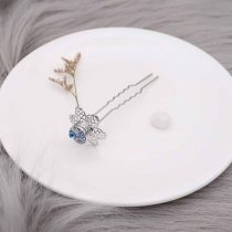 Flowers hairpin snap sliver Pendant   fit 12MM snaps style jewelry KS0376-S