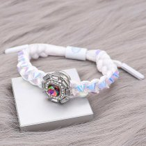1 buttons Colorful Rope  KC0507 new type Bracelet fit 20mm snaps chunks