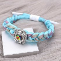 1 buttons Colorful Rope  KC0513 new type Bracelet fit 20mm snaps chunks