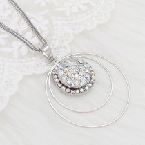 20MM design Round metal silver plated snap with colorful rhinestone KC8099 charms snaps jewelry