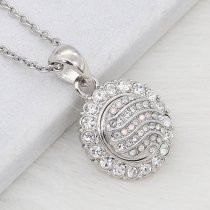 12MM design Round metal silver plated snap with colorful rhinestone KS7128-S charms snaps jewelry