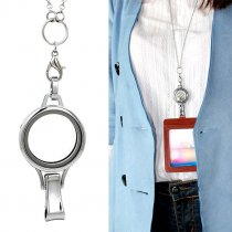 Floating Charm Lockets Dia 30mm with Id Card holder