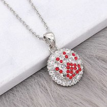 12MM design unguiform metal silver plated snap with Red rhinestone KS7141-S charms snaps jewelry