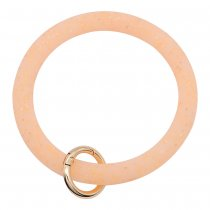 orange shiny Silica gel Big ring bangle Key Ring Key Chain bracelet