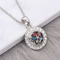 12MM design metal silver plated snap with colorful rhinestone KS7135-S charms snaps jewelry