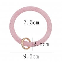 red shiny Silica gel Big ring bangle Key Ring Key Chain bracelet
