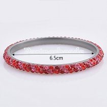 Three rows rhinestone stainless steel bangle Bracelet