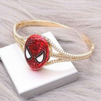 20MM Cartoon design Spider-Man metal gold plated snap Enamel KC9275 charms snaps jewelry