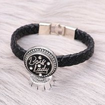 20MM snap silver Plated With white rhinestones with Black enamel charms KC9311 snaps jewerly