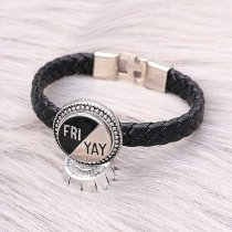 20MM snap silver Plated with Black enamel charms KC9309 snaps jewelry