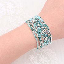 10 pcs/ lot Rhinestones Sparkling  Elastic Bracelet with 80pcs colorful rhinestones