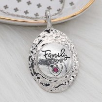 20MM Family snap Silver Plated With rose rhinestones charms KC8171 snaps jewerly