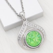 20MM  snap Silver Plated With Green Shell charms KC2178 snaps jewerly Opal