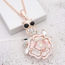 20MM snap gold Plated  Flowers with  rhinestones and Pale pink enamel KC8177 snaps jewerly