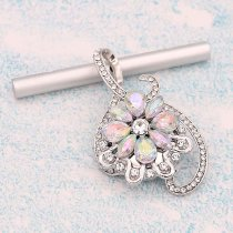 20MM design snap Silver Plated With colorful rhinestones charms KC9335 snaps jewerly