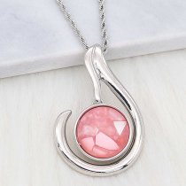 20MM snap Silver Plated With pink Shell charms KC2206 snaps jewerly