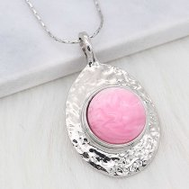 20MM snap Silver Plated With pink Plastic acrylic charms KC2201 snaps jewerly