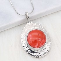 20MM snap Silver Plated With orange Plastic acrylic charms KC2199 snaps jewerly