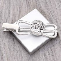 snap sliver hair accessories  fit 20MM snaps style jewelry KD0306