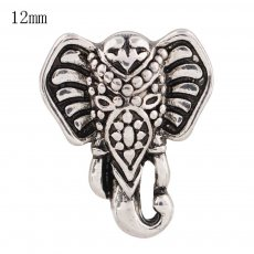 12MM Elephant snap Silver Plated KS8047-S snaps jewelry