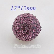 12mm Purple STELLUX Austrian crystal ball beads