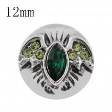 12MM Halloween Wing snap avec strass vert batte KS5158-S Halloween