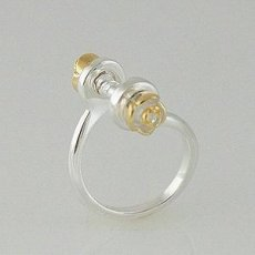 S925 Silver Ring for chamilia style beads;Bead it ring mother