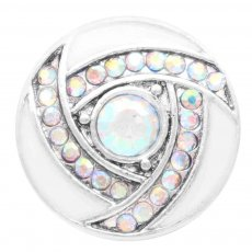 20MM snap Silver Plated with colorful Rhinestone enamel KC7796 snaps jewelry