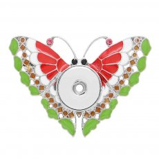 1 snaps button interchange brooch plating sliver with Rhinestones and enamel KC1213 snaps jewelry