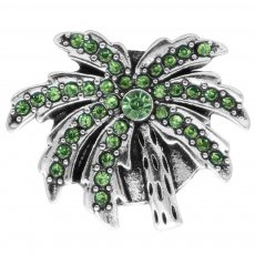 20MM Tree snap with Green rhinestones  KC6954 snaps jewelry