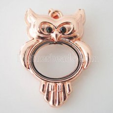 Owl Rose Gold floating locket