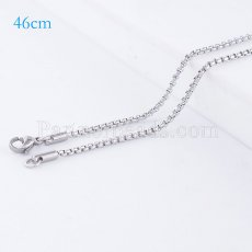 46CM Stainless steel fashion chain fit all jewelry silver plated FC9024